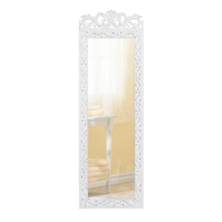 Rectangular Elegant White Wall Mirror For Home