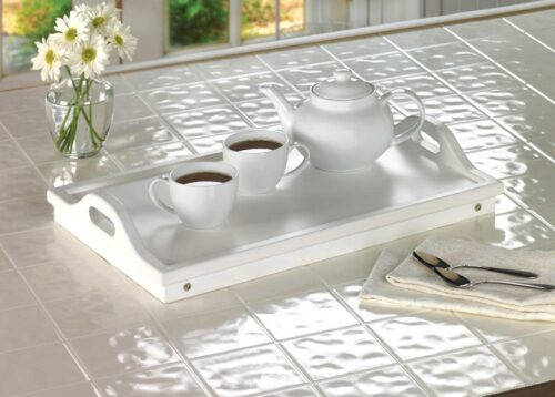 White Serving Tray for Snacks or Breakfast